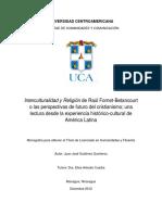 Monografía para obtener el Título de Licenciado en Humanidades y Filosofía
