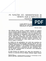 AS FUNÇOES DO ADMINISTRADOR DE VENDAS SOB O IMPACTO DE NOVOS CONCEITOS