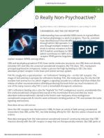 Is CBD Really Non-Psychoactive