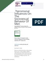 Pheromonal Influences On The Sociosexual Behavior of Men