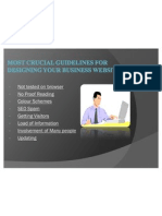Most crucial guidelines for designing your business website