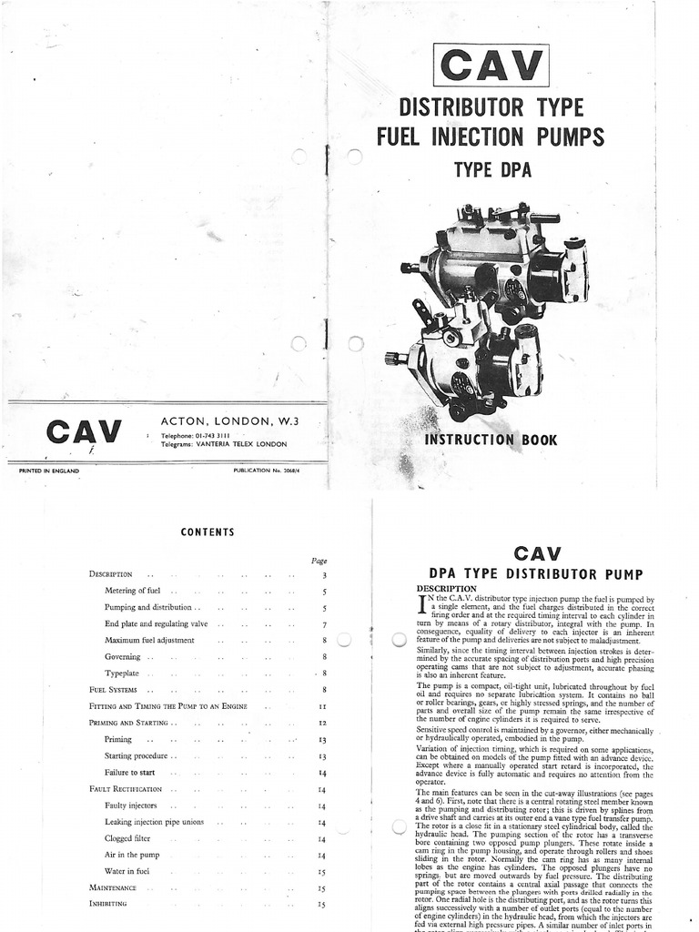Lucas cav dpa injection pump instruction book publicscrutiny Image collections
