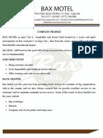 Bax Motel profile.doc