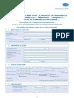 Formulaire attestation de salaire IJ maladie, maternité, paternité