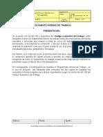 A. REGLAMENTO INTERNO DE TRABAJO GRANJA AVÍCOLA CASA DE TEJA
