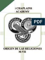 M7-ORIGEN DE LAS RELOGIONES - (T)