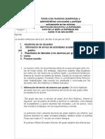 Asiste a Alas Reunines Acdemicas Acta Julio 14