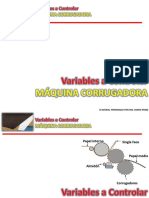 VARIABLES A CONTROLAR EN MAQUINA CORRUGADORA