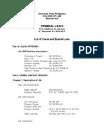 Case List AY10-11
