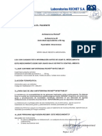 Info PAciente  Anfotericina Richet (Anfot B 50 mg - inyect) - Disp 9244-19