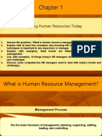 Ch 1- Managing Human Resources Today