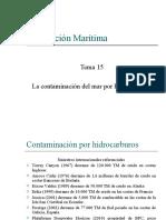 Tema 15 - Responsabilidad del naviero por contaminación del mar por hidrocarburos