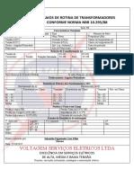 Folha de Testes Transformador CINE ARAUJO