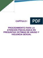 evaluacion forense en presuntas victimas de violacion sexual, violencia familiar y de genero