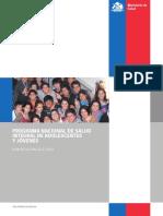 Programa nacional de salud integral de adolescentes y jovenes. MINSAL Chile 2012 - 2020