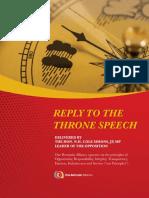 ReplyToThroneSpeech 2020 Web