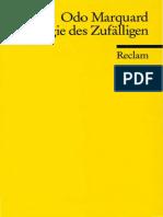 Odo Marquard - Apologie des Zufälligen. Philosophische Studien   (1986, Reclam) - libgen.lc - Copia.pdf