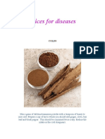 Spices for diseases