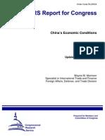 China Economic conditions