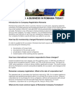 How to Set Up a Business in Romania Today