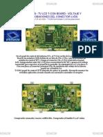 TV LCD T-CON BOARD - VOLTAJE Y COMPROBACIONES DEL CONECTOR LVDS