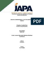 Derecho Administrativo y sus Procedimientos  - Tarea VII