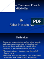 Waste Water Treatment in Middle East