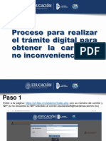TRÁMITE DIGITAL DE CARTA DE NO INCONVENIENCIA
