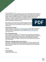 CCSD letter to parents