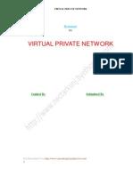 Seminar Report On VIRTUAL PRIVATE NETWORK