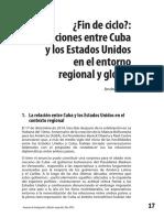 Fin de ciclo. Las relaciones entre Cuba y los Estados Unidos en el entorno regional y global