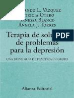 terapia para la solucion de problemas para la depresion