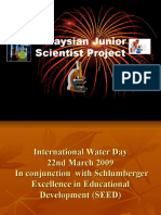 Malaysian Junior Scientist Project