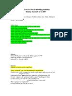 Council Minutes November 9 2007
