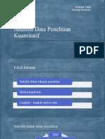 Analisis Data Penelitian Kuantitatif