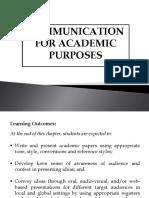 PurCom Chapter 8 - Communication for Academic Purposes