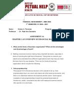 Financial Managment assessment 1A_Paciones Chema