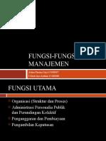 Fungsi-Fungsi Manajemen
