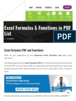 [PDF] 400+ Excel Formulas List _ Excel Shortcut Keys PDF - Download Here