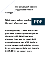 7. Wind Power and Renewable Energy