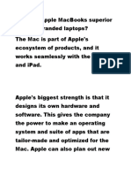 6. How Are Apple MacBooks Superior to Other Branded Laptops