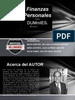 ANÁLISIS DEL LIBRO FINANZAS PERSONASLES PARA DUMMIES DE ERIC TYSON