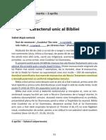 1 - Caracterul Unic Al Bibliei