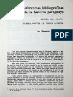 Referencias Bibliograficas Historia Paraguaya, Guerra Triple Alianza y Guerra Del Chaco, Margarita Kallsen