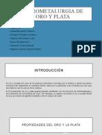 HIDROMETALURGIA del ORO Y PLATA)