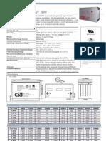 bateria CSB HRL12390W Equivalente HX400FR