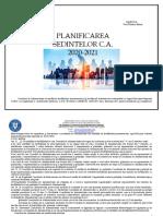 PLANIFICAREA SEDINTELOR CA  2020-2021