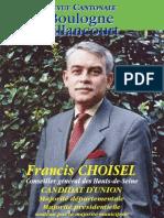Journal électoral cantonale 2008 - Francis Choisel