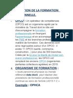 PRESENTATION DE LA FORMATION  PROFESSIONNELLE 25
