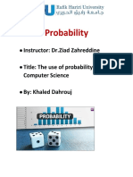 Probability report